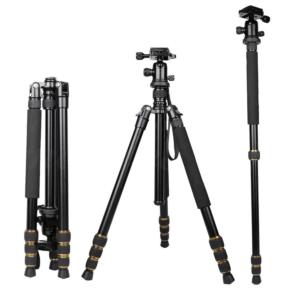 yanbirdfx ZOMEI Q666 ポータブル三脚ボールヘッド トラベルパン チルトアクセサリー デジタル一眼レフカメラ用 - ブラック   B07MSH2ZP6