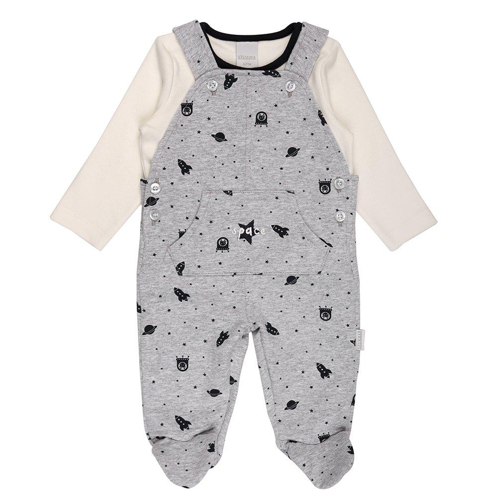 Nacimiento Bebé Niño Set, Shirt, Camiseta e Pelele, Gris, Blanco: Amazon.es: Ropa y accesorios