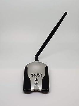 Alfa Network AWUS036H V5 + U-MOUNT-CS - Adaptador USB WiFi, larga distancia, con antena de 5 dBi