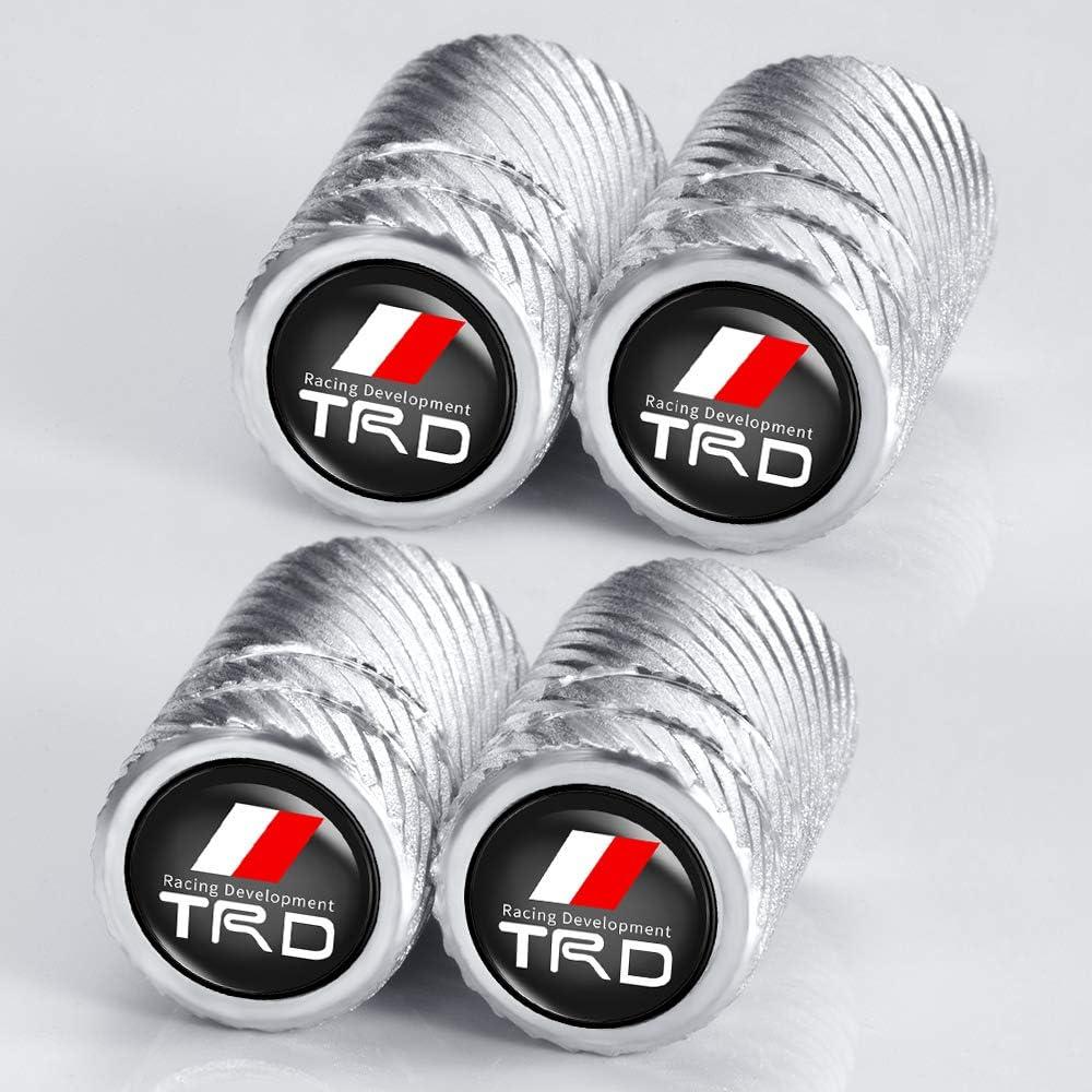 Tundra N//A 4 Pcs Metal Car Wheel Tire Valve Stem Caps for Toyota TRD Fj Cruiser 4runner,Yaris,Camry Highlander Avalon Logo Styling Decoration Accessories Supercharger Tacoma