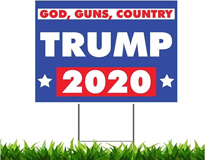 FARMERS FOR TRUMP 18x24 Yard Sign Corrugated Plastic Bandit Lawn Business MAGA