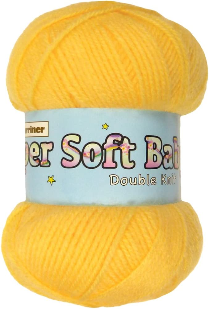100/% Acrylic Marriner Super Soft Baby Double Knit 100g Knitting//Crochet Yarn Cream, 5 Ball Pack