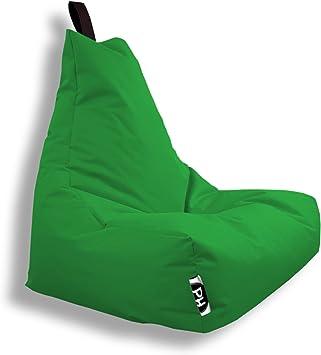 Patchhome Lounge Sessel XXL Gamer Sessel Sitzsack Sessel Sitzkissen In & Outdoor geeignet fertig befüllt | XXL Grün in 2 Größen und 25 Farben