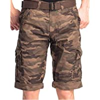 Verticals Army Print Cargo Capri for Men (armycapri1)
