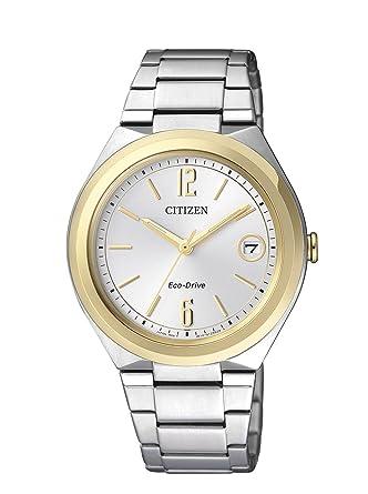 Citizen FE6024-55A - Reloj de cuarzo para mujer, con correa de acero inoxidable, color: Amazon.es: Relojes
