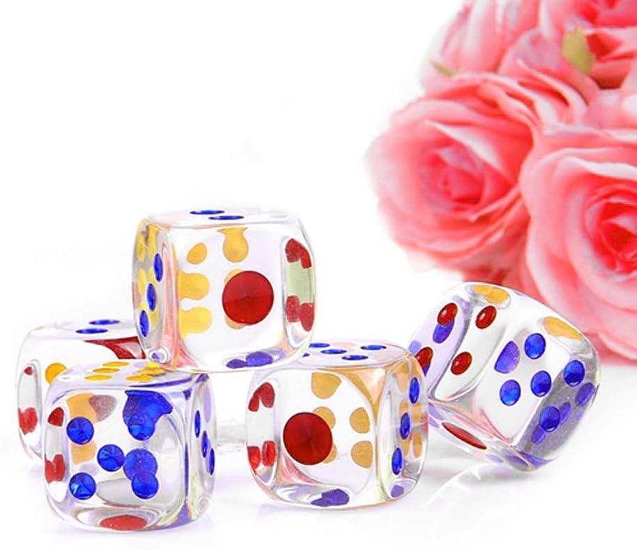 HARPIMER Juego de Dados de 6 Caras Juego de Dados rectangulares Transparentes Juego de Dados para Juegos de matemáticas, Casino, Juegos Fiestas