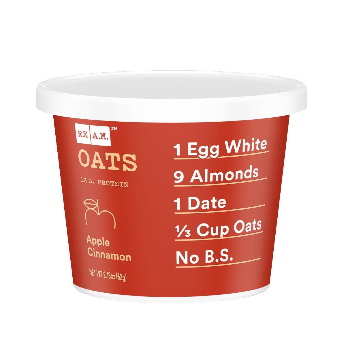 RXBAR, Rx A.M. Oats, Apple Cinnamon, 12ct, 2.18oz Cups, 12 Gluten Free Oatmeal Cups