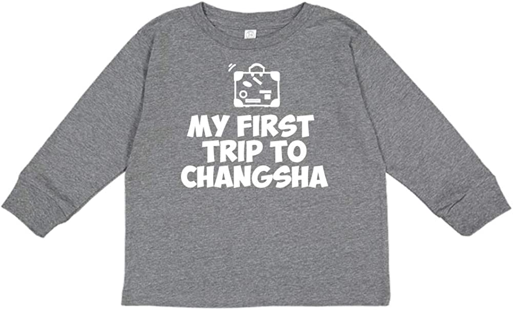 Mashed Clothing My First Trip to Changsha Toddler//Kids Long Sleeve T-Shirt