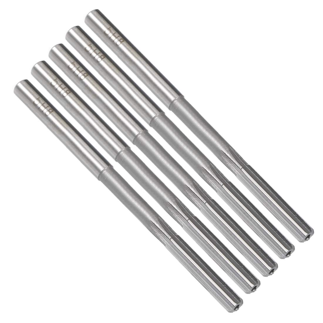 HSS Cobalt M35 Lathe Machine Reamer D4 6 Straight Flutes uxcell 8mm Chucking Reamer Round Shank Milling Cutting Tool for Stainless Steel Alloy Copper Metal
