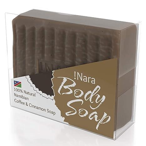 Suave jabón artesanal de aceite de!Nara ecológico con Café y Canela, para el cuidado diario ...