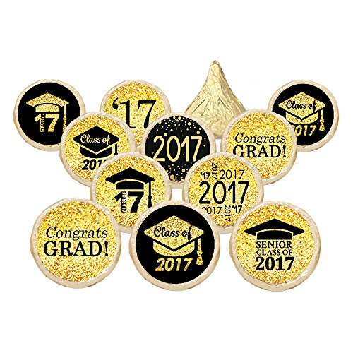 Class of 2017 Graduation Party Favor Stickers, Set of 324 (Black and (Invitations Graduation)