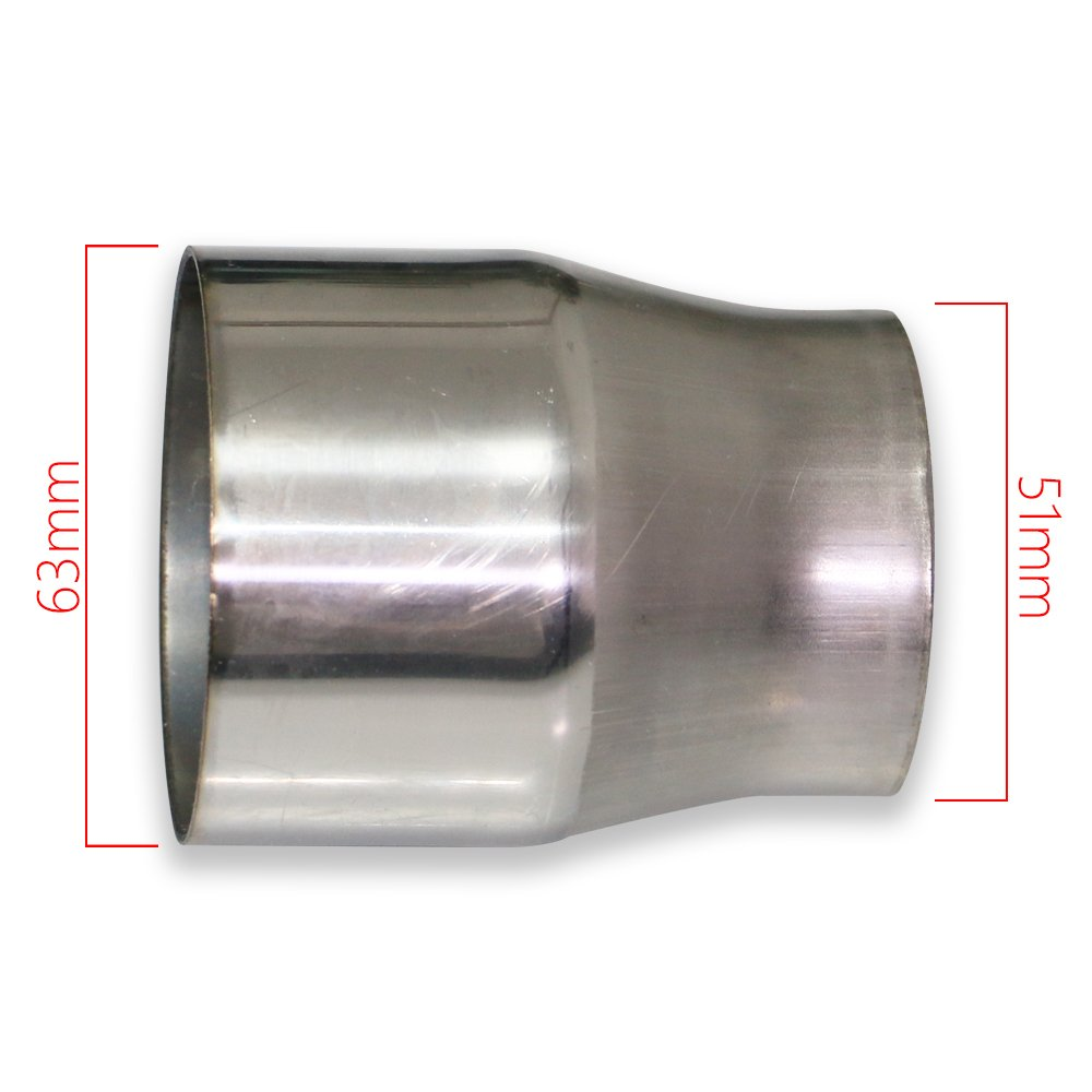2 to 2.5 Stainless Steel Jzz Cozma Universal Exhaust Muffler Pipe Adapter for All Pickup Models
