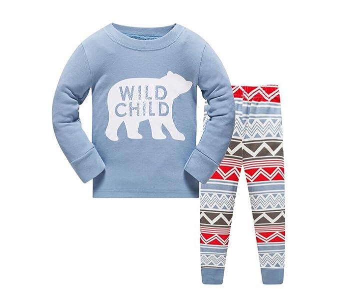 Niños Conjuntos de pijamas Niños Conjunto de ropa Niños Niñas Pijama de algodón Pijamas 1-