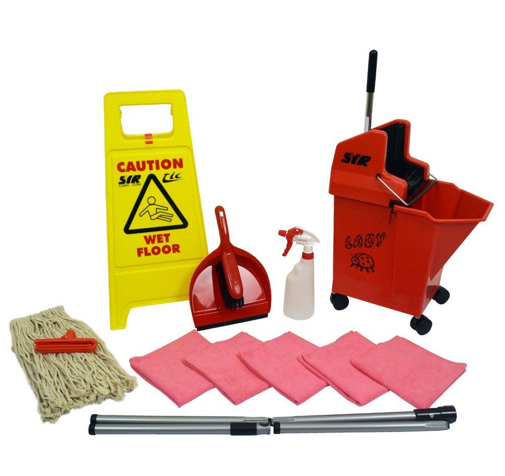 SYR 994707AMZ Mopping Kit, Starter, Kentucky, Red SYR Ltd