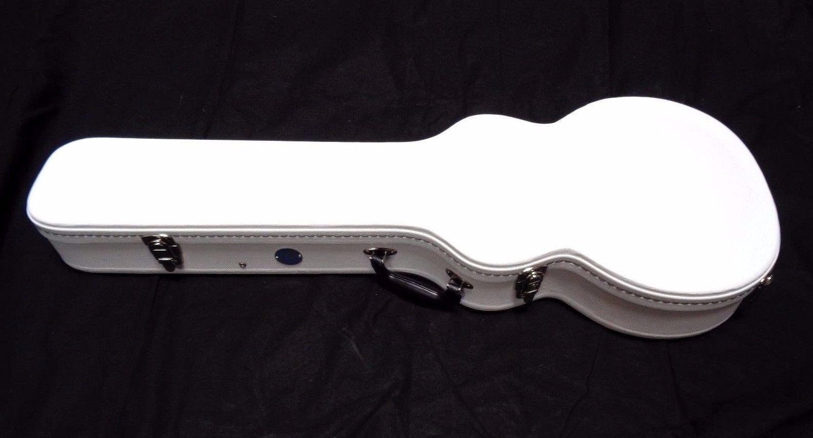 Allen Eden White Hard Shell Electric Guitar Case for Arch Top Les Paul by Allen Eden (Image #3)