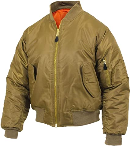 Amazon.com   Coyote Brown Military Air Force MA-1 Reversible Bomber ... 503a85d3347