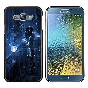 EJOOY---Cubierta de la caja de protección para la piel dura ** Samsung Galaxy E7 E700 ** --Sci Fi Future City