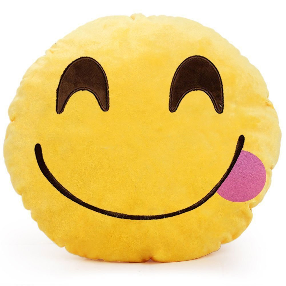 Emoticones, Cojín de Emoji Adorable Suave y Cómodo ...