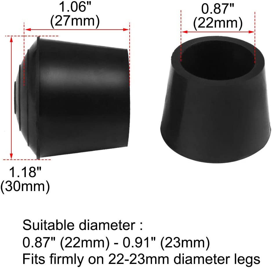 uxcell 20pcs Chair Leg Tips Caps 16mm 5//8 Inch Anti Slip Rubber Furniture Table Feet Cover Floor Protector Reduce Noise Prevent Scratches