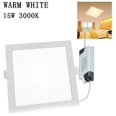 Xyd® 3W-24W LED carré fin Duvet de Dalle de plafond à encastrer Down Lampe pour salle à manger, salon, couloir, salle de conférence et de bureau léger d'économie d'&ea
