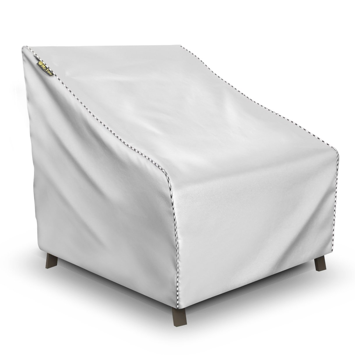Lounge Deep-Seat Patio Cover Outdoor Club Chair Cover Lightweight Water Resistant Eco-Friendly Helpful Air Vents All Weather Protection Silver 31x38x29 inches (LxWxH)