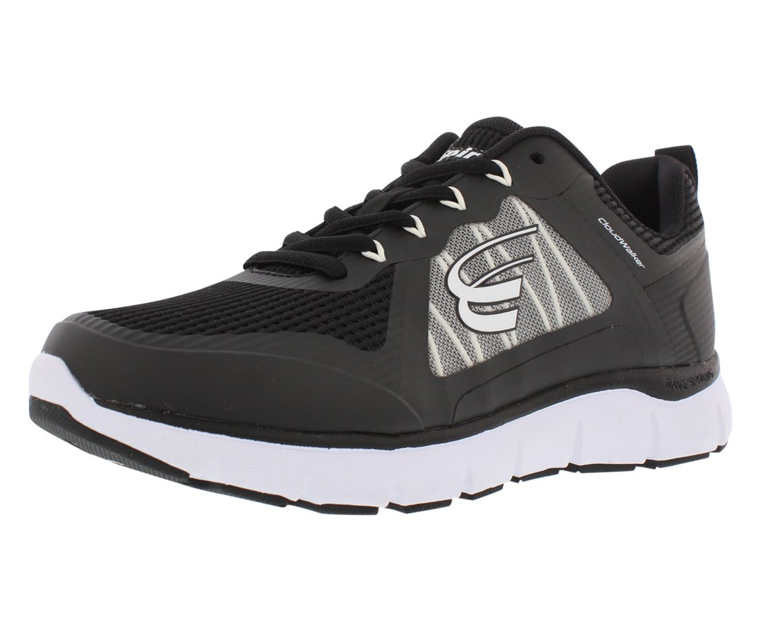 Spira CloudWalker Women's Athletic Walking Shoe with Springs B07B9LWP9T 10 C/D US|Black/White