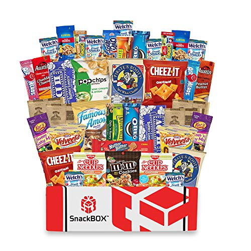 Care Package for College Students Snack Box (40 Count) Great For, Exams, Father's Day, Finals, Dorms, Deployment, Military, Office Snacks and Gift Baskets From Snack Box