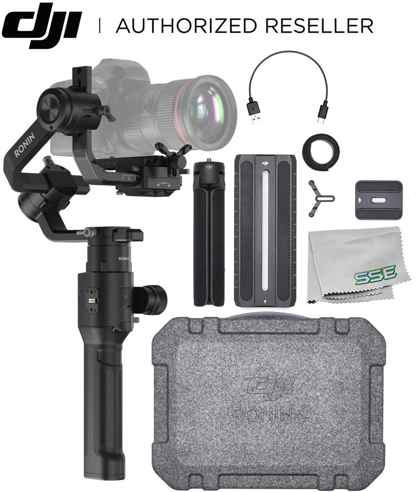 DJI Ronin-S Essentials Kit Handheld 3-Axis Gimbal Stabilizer with All-in-one Control for DSLR and Mirrorless Cameras Starters Bundle - CP.RN.00000033.01