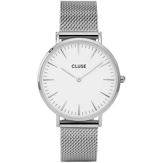 Cluse Reloj Analógico Automático para Mujer con Correa de Acero Inoxidable - CL18105: Cluse: Amazon.es: Relojes
