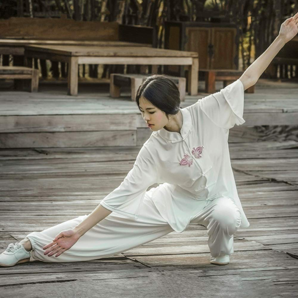 Amazon.com: KSUA Womens Tai Chi Clothes Chinese Kung Fu ...