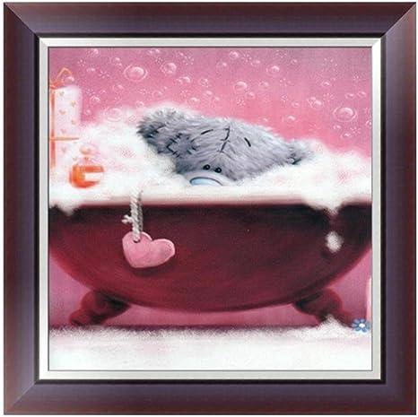 A Fabal Cartoon Teddy Bear Diamond Painting Embroidery Kit Mosaic Cross Stitch Home Decor Gift