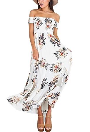 b817b33f09a Yidarton Femme Robe Longue Manche Longue Ronde Fleurie Vintage Chic Robe de  Cocktail Maix Ete (