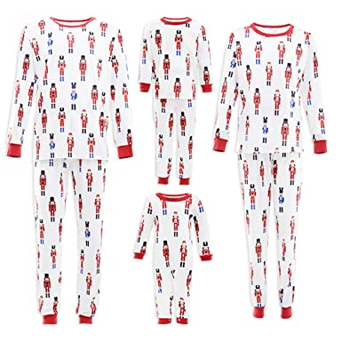 Amazon.com  PatPat Family Matching Pajamas Festival Christmas Nutcracker  Pattern Printed Two Pieces Sleepwear for Kids Adult  Clothing 32549f0a4