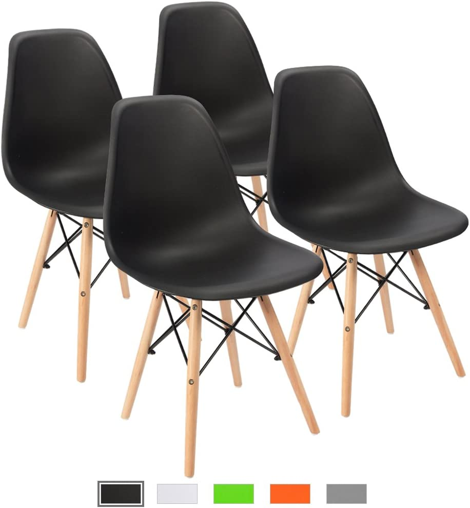 Furmax Pre Assembled Modern Style Dining Chair Mid Century Modern DSW Chair Shell Lounge Plastic  sc 1 st  Amazon.com & Kitchen u0026 Dining Room Chairs | Amazon.com