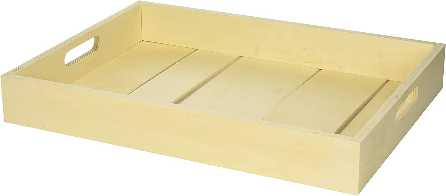 Darice Pallet Wood Tray, Natural