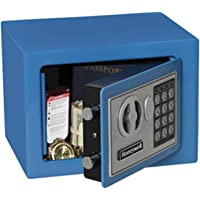 Steel Security Safe with Digital Lock, 0.17-Cubic Feet, Blue, 0.17 Cubic Feet