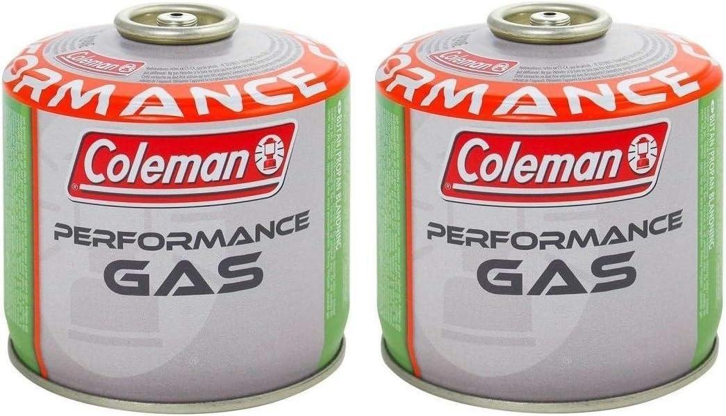 Coleman - 2 bombonas de cartucho de gas C300 Performance de rosca con 240 g de gas (mezcla butano/propano) Todos los productos Coleman conexión a ...