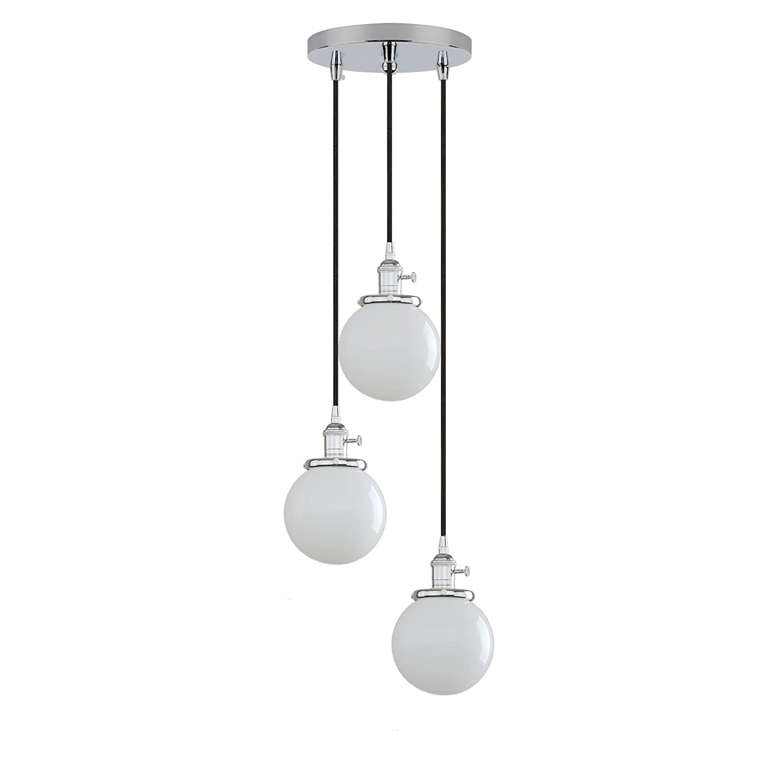 Pathson industrial modern vintage 3 way ceiling pendant lights