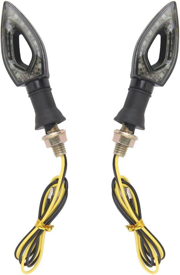 Clignotants Moto /à 12 LED Optique Feux Eclairage Phare Lumi/ère Ambre
