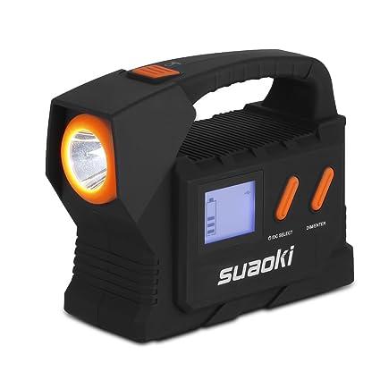 SUAOKI T803D - Jump Starter 25000mAh 600A Arrancador para 24V batería vehículos Grandes (Batería Externa, Flashlight, Necesidad Pesada) Negro