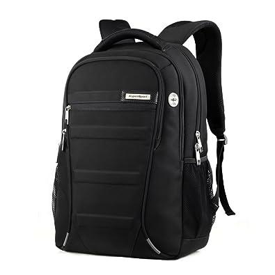 ASPENSPORT ビジネスリュック Laptop Backpack スクールリュック PC収納バックパック黒 メンズ レディース ブラック AS