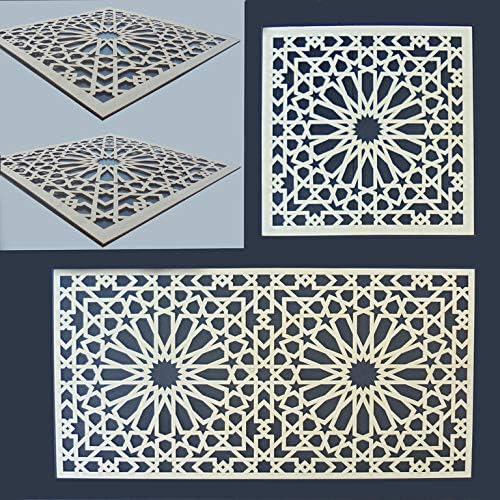 Zagora Holzornament Quadrat Verzierung Ornament Applikation M/öbel 20x20cm