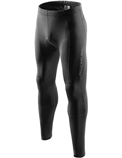 075454cd0e Przewalski Men's Bike Pants 4D Padded Thermal Cycling Tights Long Compression  Leggings Outdoor Riding Bicycle Wear