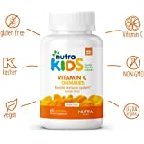 Vitamin C Gummies By Nutra Kids - Orange Flavor - 120 Count - Daily Organic Immunity Support for Kids GLUTEN FREE - VEGAN - KOSHER - HALAL - NON GMO - GELATIN FREE VITAMIN C SUPPLEMENTS
