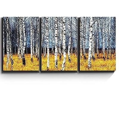 Aspen Trees Fall Colors Wall Decor x3 Panels...