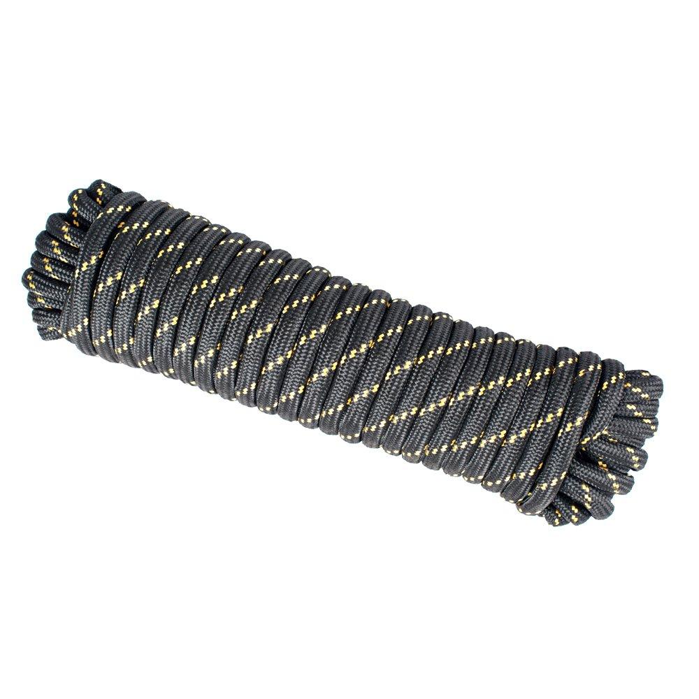 Wasons W104-1B Diamond Braided Utility Rope, 1/2-Inchx 100-Foot, Black