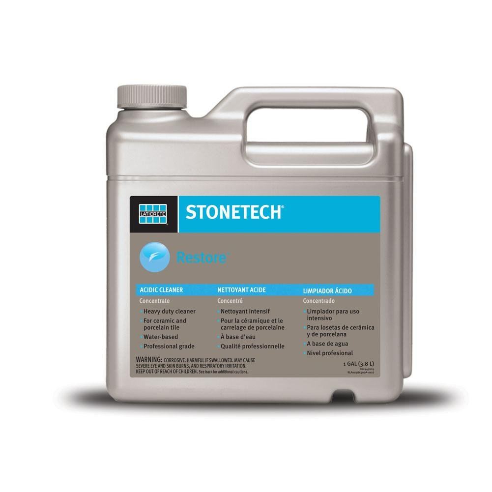 Laticrete StoneTech Professional Concentrate Restore Acidic Cleaner, 1 Gallon