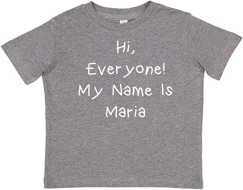 Personalized Name Toddler//Kids Short Sleeve T-Shirt My Name is Maria Everyone Mashed Clothing Hi