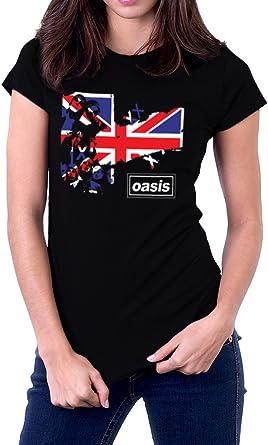 Oasis Band Logo Shirt Womens Short Sleeve T Shirt Fashion Casual T-Shirt