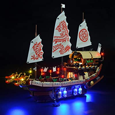 LIGHTAILING Light Set for (Ninjago Movie Destiny's Bounty) Building Blocks Model - Led Light kit Compatible with Lego 70618(NOT Included The Model): Toys & Games